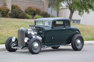 Click to View Roy Brizio Street Rods Completed Cars - Mark Stitzer 1932 Ford 5 window coupe